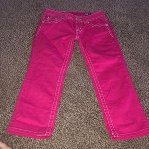 Miss Me sz 25 pink capris